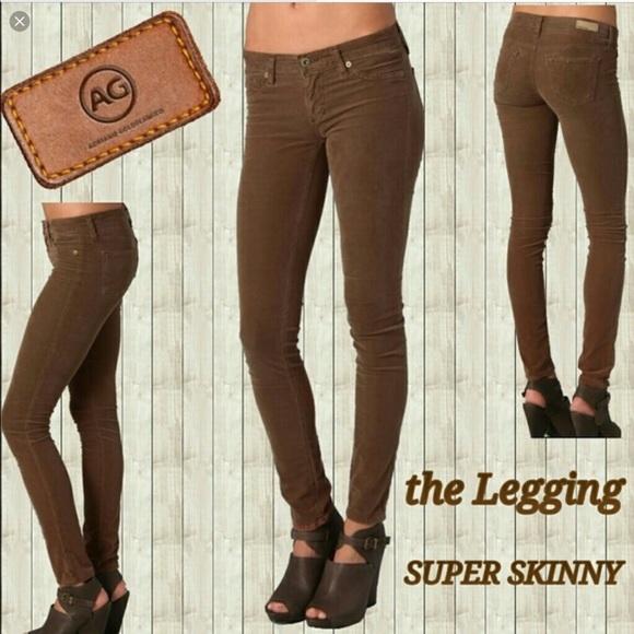 de574d15c07e Ag Adriano Goldschmied Jeans | Ag The Legging Super Skinny Brown ...